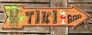 US Schild Pfeil TIKI Bar 43x12 cm Cocktails Party Fun