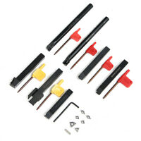 7PCS Set 12mm Lathe Turning Tool Holder Boring Bar + DCMT/CCMT Carbide Insert