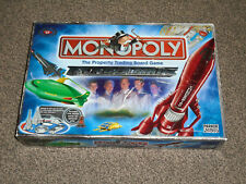 MONOPOLY GAME : THUNDERBIRDS EDITION + EVIL HOOD MOVER -  IN VGC (FREE UK P&P)
