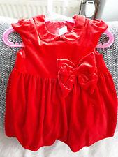 Kleid Samt Gr 86 Baby Mädchen Hochzeit Weihnachten