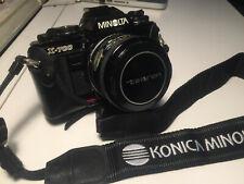 Minolta X700 SLR & Case + Tamron Adaptall 24mm 1: 2.5 & Lens Hood & Case EXC+++