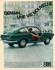PUBLICITE ADVERTISING 124 1960  FIAT 850 COUPE
