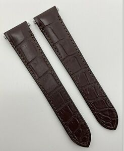 Authentic New Cartier Santos 21mm x 18mm Brown Alligator Strap Band KD7GJACY OEM