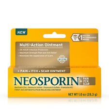 Neosporin Pain, Itch, Scar Antibiotic Ointment with Bacitracin, 1.0 oz