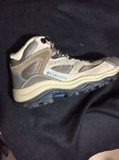 COLUMBIA Womens HILLTOP RIDGE Tan Suede Leather Hiking Boots Sz 5.5 M YL3648-256