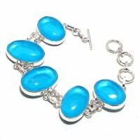 Chalcedony Ethnic Jewelry Handmade Bracelet 28 Gms LB-903