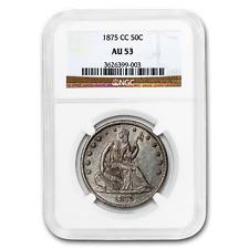 1875-CC Liberty Seated Half Dollar AU-53 NGC - SKU#189251