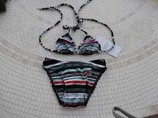 MAILLOT DE BAIN FILLE 2 PIECES TRIANGLES 3 ANS  RAYE TRIUMPH/VALCLUB