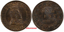 CANADA Edward VII Bronze 1904 Large 1 Cent KM# 8