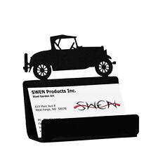 SWEN Products CAR MODEL A Black Metal Business Card Holder
