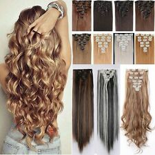 Lockig Clip in weichhaar Extension Haarverlängerung Haarteile Premium Kunsthaare