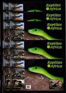 / 10X SIERRA LEONE - MNH - ANIMALS - TURTLE - CROCODILE - SNAKE