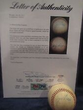 Roger Maris & Harry Simpson Autographed OAL (Harridge) Baseball - PSA Full LOA