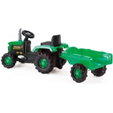 TRACTOR & TRAILER Ride On Kids Pedal Operated Child Play Toy Car Bike - Green