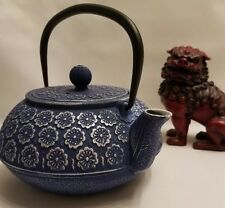 Japanese Tetsubin Blue Cast Iron Teapot 1.2 liter (40oz)...compare to Teavana
