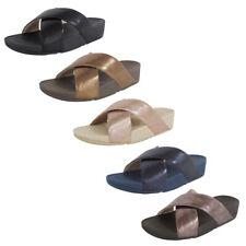 Fitflop Womens Lulu Cross Glitz Slide Sandal Shoes