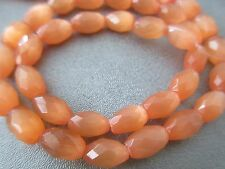 Orange Cat's Eye Faceted Tube Beads 36pcs