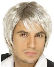 Male Blonde / Silver Idol Popstar Boy Band Wig Schoolboy Fancy Dress P2565