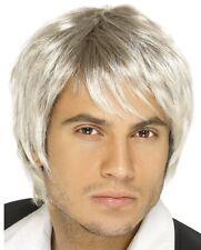 Male Blonde / Silver Idol Popstar Boy Band Wig Schoolboy Fancy Dress P2565