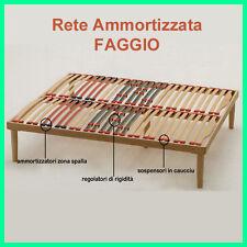 RETE A DOGHE MATRIMONIALE IN FAGGIO 160X190h35