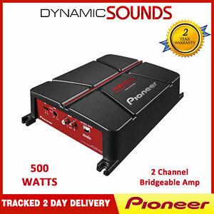 Pioneer GM-A3702 2 Channel Bridgeable Car Audio Amplifier 500W
