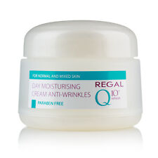 Crema hidratante de día anti-arrugas para piel normal y mixta+Refresh,Regal Q10