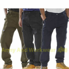 6 Pocket Combat Cargo Work Trousers Workwear Pro Pants Security MOD Army Police