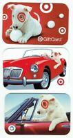 Target Gift Card Bullseye Dog, Cars - LOT of 3 - Older / 2006, 2007 - No Value