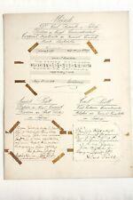 Antike Autographen, Komponisten, Sänger, Solisten,1893 - 95, Notengrüße
