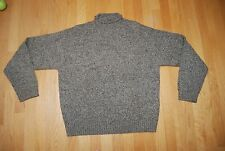 Shades of Brown POLO By RALPH LAUREN Mock T-Neck Pullover Wool Sweater Medium