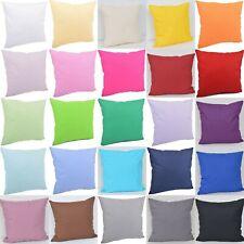 Kissenhülle Hülle Kissenbezug Bezug  100% Baumwolle 10 Maße ungemustert