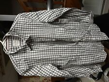 NWT Old Navy Size L The Classic Shirt Brown Striped Button Down Long Sleeve
