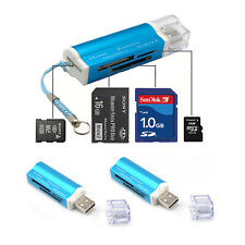 2x All In 1 USB 2.0 to 4 Ports Memory Multi Card Reader For Micro SD TF Portable