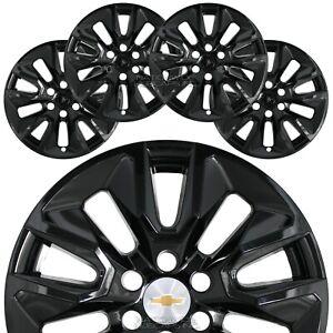 """for Chevrolet Silverado 1500 2019-2021 Black 20"""" Wheel Skins Hub Caps Rim Covers"""