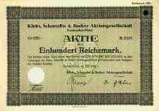 KSB Klein Schanzlin Becker 1928 Frankenthal Pegnitz Franken 100 RM AMAG Hilpert