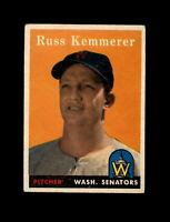 1958 Topps Baseball #137 Russ Kemmerer (Senators) EXMT  #AAB123