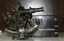 SOLID BRASS NAUTICAL ASTROLABE WORKING SEXTANT WITH W/BOX XMAS DECOR GIFT ITEM.
