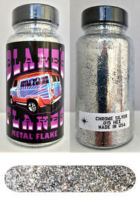Blakes Metal Flake .015 Chrome Silver Hot Rod Custom Paint hot rod 2oz jar