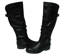 New Women's Ridding Boots Pita Black Shoes Winter Snow Fur Lined Ladies size 7.5