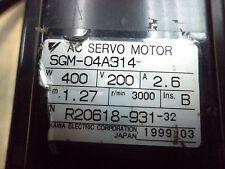 Yaskawa servo motor SGM-04A314 400w,200v , 2.6A