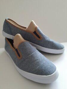 American Eagle (AE) Womens Denim Blue Slip-On Canvas Shoes, Size 10M, #166781