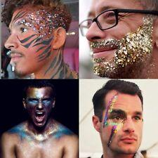 10 MENS FESTIVAL GLITTER POTS SPARKLY RAINBOW FACE BODY BEARD HAIR PRIDE