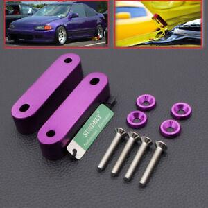 For 1991 1992 1993 Honda Civic EG EK EM Purple Motor Swap Hood Vent Riser Spacer