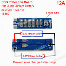 2S 12A 7.4V 8.4V Li-ion 18650 Lithium Lipo Battery BMS Protection Board PCB