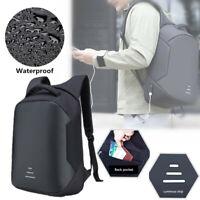 Anti-theft Men Women Laptop Backpack +USB Charging Interface Business School Bag