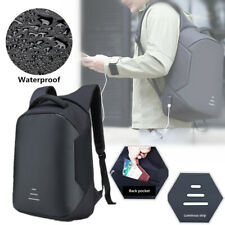 Anti-theft Men Women Laptop Backpack +USB Charging Interface Business School Bag