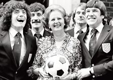 Margaret Thatcher and England Football Squad Poster