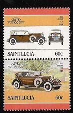 ALTES AUTO 1932 LINCOLN K. B. USA DOPPELT BRIEFMARKEN UNGEBRAUCHT