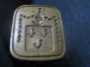 Antique 19th C Wax Seal / Signet / Cachet with Cote of Arms