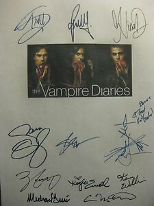 The Vampire Diaries Signed TV Script Nina Dobrev Paul Wesley Ian Somerhalder rpt